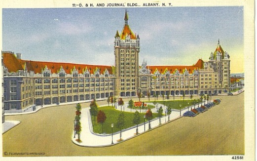 Old Postcard of the D&H Castle