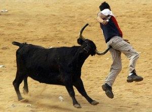 Ox Gores Man