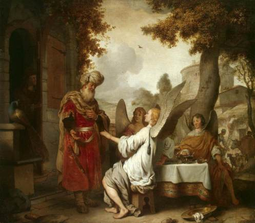 Abrtaham + 3 Angels eeckhout 1656