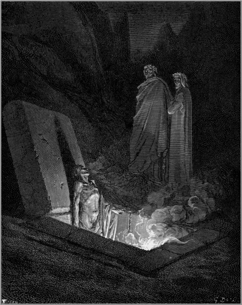 Gustave Dore 6th ring Dante Inferno